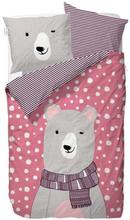 Sengetøj Covers & Co 2 i 1 design - 140x200 cm - 100% bomulds renforcé - Bamse bjørn
