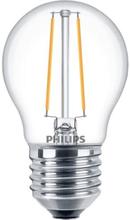 Philips Filament Klot LED 2,7W/827 (25W) E27 dimbar - Klar