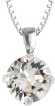 Classic Petite Necklace Rhodium Crystal
