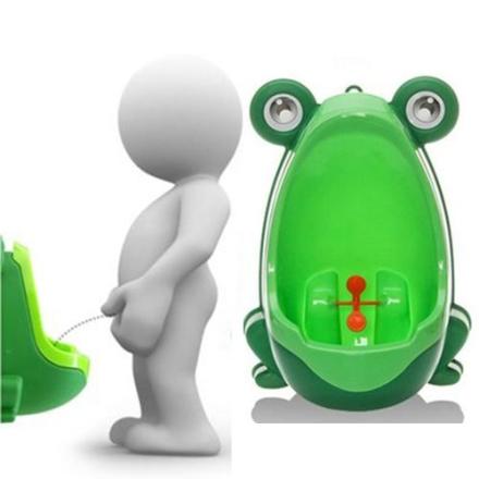 Toalett til barn formet som en frosk - Grønn