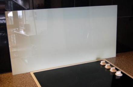 Millarco Veggplate Firkantet 800x400mm. Frostet herdet glass