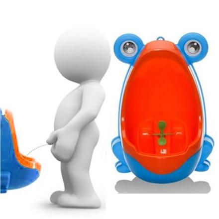 Toalett til barn formet som en frosk - Blå