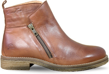 Rosa Negra Zipper Boot Brandy