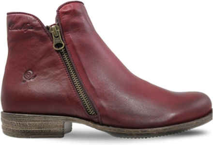 Rosa Negra Autumn Zipper Boot Bordo