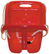 Babygynge med høj ryg - Rød