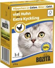 Kattmat Bozita Bitar i gelé med extra kyckling, 16 x 370 g