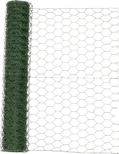 Hönsnät 6-kantnät med plast, 10 m 50 cm / 25 mm / 10 m