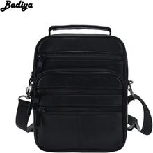Casual Men's Business Genuine Leather Crossbody Bag Sheepskin Small Men Single Shoulder Messenger Bag High Quality Bolsa Handbag