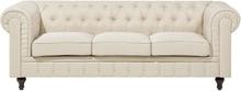 3-istuttava sohva kankainen beige CHESTERFIELD