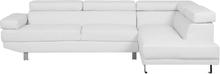 Kulmasohva keinonahkainen valkoinen NORREA