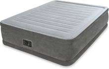 Intex Komfort luftmadrass plysch PVC 152x203x46 cm vit 64414