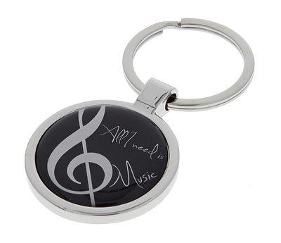 A-Gift-Republic Key Ring All I Need Is Music