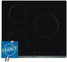 BRANDT BPI6310B - Induktions kogeplade - 3 områder - 4600W - L58 x D51cm - Glasbelægning - Sort