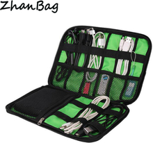 OLAGB High Grade Nylon Waterproof Travel Electronics Accessories Organiser Bag Case for Chargers Cables etc,Accessories Bag