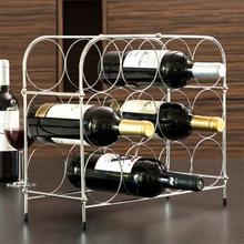 Vaffelmønstret Metallisk Vinholder (12 Flasker)