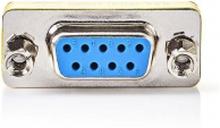 D-Sub-koppling | D-SUB 9-stifts hane – D-SUB 9-stifts hona | Metall