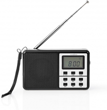 FM-radio | 1.5 W | Världsmottagare | Väckarklocka | Svart