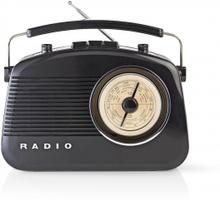 FM-radio | Bordsdesign | AM / FM | Batteridriven / Strömadapter | Analog | 4.5 W | Hörlursuttag | Bärhandtag | Svart