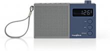FM-radio   2.1 W   Klocka och alarm   Multifunktionell ratt   Grå/blå