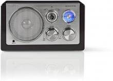FM-radio | Bordsdesign | AM / FM | Batteridriven / Strömadapter | Analog | 9 W | Svart