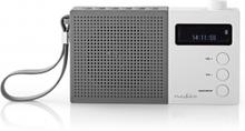 Digital DAB+-radio   4.5 W   FM   Klocka och alarm   Grå/vit