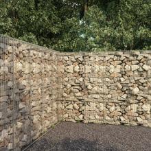 vidaXL Gabionmur med lock galvaniserat stål 300x50x200 cm