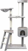 vidaXL Kissan raapimispuu sisal-pylväillä 150 cm Harmaa