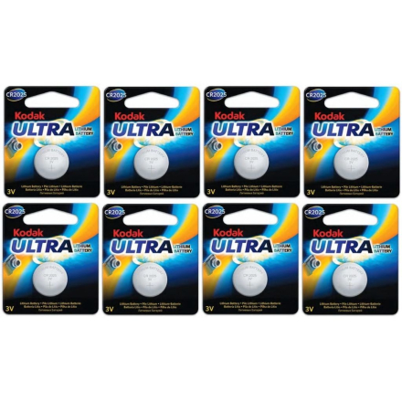Batteri CR2025 8-pack Knappcell Kodak Ultra , 3V Litium Batteri