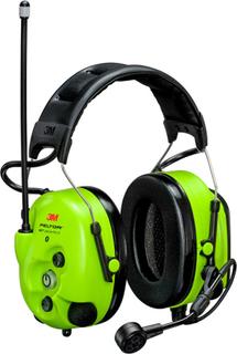 3M Peltor WS LiteCom III Hörselskydd med hjässbygel, Bluetooth, Hi-Viz