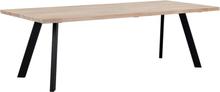 Fion matbord 240x100 - Whitewash/svart