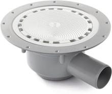Jafo golvbrunn med mattpaket, PS 50 M2, grå