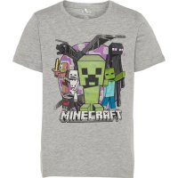 NAME IT Kids Minecraft T-shirt Mænd Grå - NAME IT