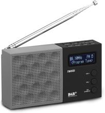 Nikkei transportabel DAB-radio med alarm NDB30BK grå og sort