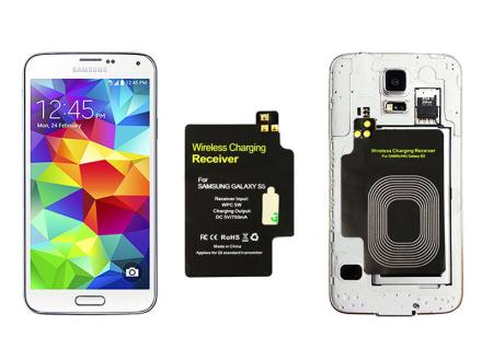 Adapter odbiornik Qi Samsung Galaxy S5 do etui s-view