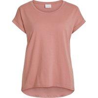 VILA Rundhalset Basic T-shirt Kvinder Lyserød