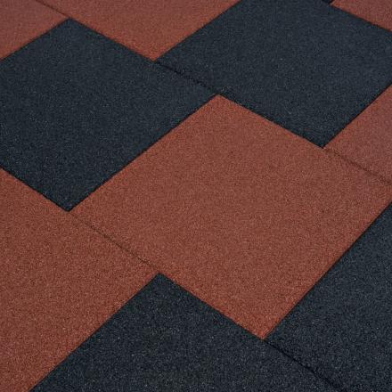 vidaXL Fallskyddsmattor 6 st gummi 50x50x3 cm svart