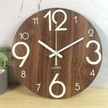 Quartz Number Wall Clock 3d Silent Clock Glow In Dark Luminous A