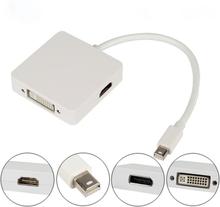 3 i 1 Thunderbolt Mini Display Port till DVI HDMI Dp Adapter