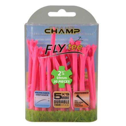 Champ Zarma FLYTee Golf Tees 2 3/4 (70 mm) Neon Pink-30 Pack
