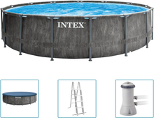 Intex Greywood Prism Frame Premium poolsæt 457x122 cm