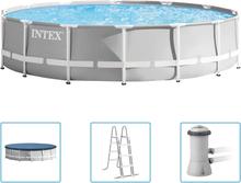 Intex Prism Frame Premium poolsæt 427x107 cm