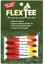 FlexTee Flexible Fluorescent Golf Tees Red/Orange/Yellow-8 Pack