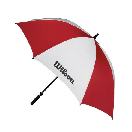 "Wilson Double Canopy Umbrella 62"" Red/White"