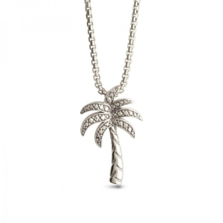 KYGO Palm Tree Crew anheng med ertekjede i sølv