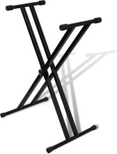 vidaXL Keyboardstativ svart vikbart justerbart 100kg
