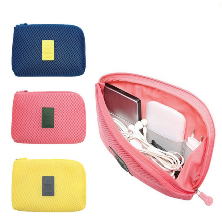 OLAGB Creative Shockproof Travel Digital USB Charger Cable Earphone Case Makeup Cosmetic Organizer Accessories Bag