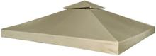 vidaXL Huvimajan vaihtokatto 310 g m² Beige 3 x 3 m