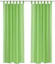 vidaXL Genomskinlig gardin 140 x 245 cm 2pack Apple Green