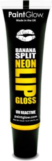 Banana Split - Gul UV/Blacklight Lipgloss med Smak