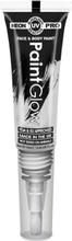 Neon UV/Blacklight Ansikt og Kroppsmaling med Kost - Hvit